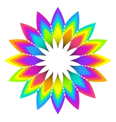 Abstract geometric rainbow flower vector