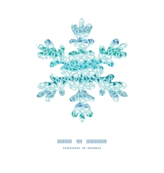 Abstract ice chrystals texture Christmas snowflake vector