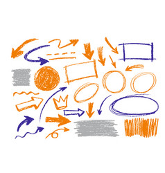 arrows circles and abstract doodle design vector image