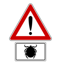 Attention sign with optional label tick vector
