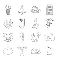 Award sport animal and other web icon in outline vector