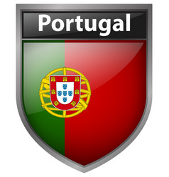 Badge design for flag of portugal vector