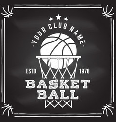 Basketball club badge vector
