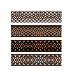 Beaded border design pattern brown color stripes vector