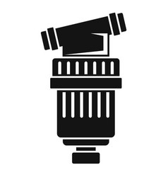 Black irrigation filter icon simple style vector