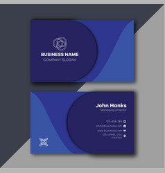 blue minimal business card images vector image