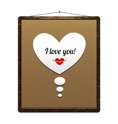 Board in a wooden frame with congratulation vector