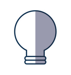 Bulb light isolated icon vector