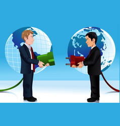 Business concept of connecting eastern and vector