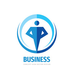 Business people logo template design element vector
