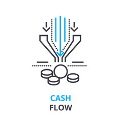Cash flow concept outline icon linear sign vector