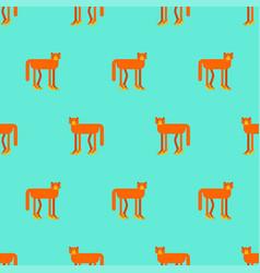 Cat in high heels pattern seamless pet in female vector