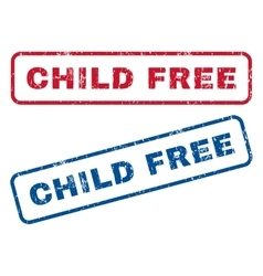 Child Free Rubber Stamps vector
