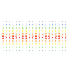 Chromosome shape halftone spectrum pattern vector