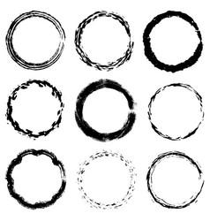 Circular frame textures set vector