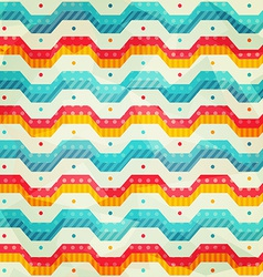 colored zigzag line seamless pattern vector image