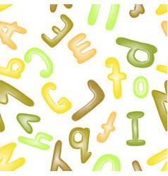 colorful plasticine letters for children vector image