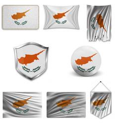 colors cyprus flag color shape vector image