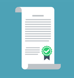 contract icon in a flat style isolated on a vector image