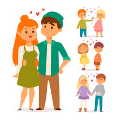 couple in love characters togetherness vector image
