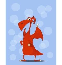 Cute red dragon cartoon vector