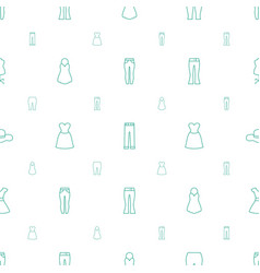 Dress icons pattern seamless white background vector