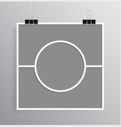 empty collage board three frames photo vector image