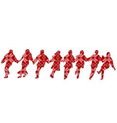 ethnic decoration patterned dancers vector image