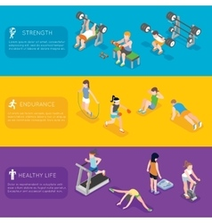 Fitness banners vector