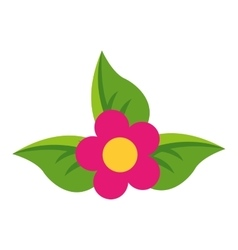 flower floral nature icon vector image