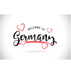 Germany welcome to word text with handwritten vector