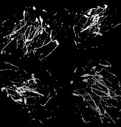 Gray splatter paint abstract on black background vector