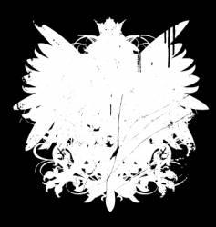 Grunge heraldry shape vector
