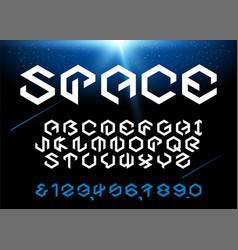 hexagon font vector image