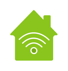 home internet connection glyph color icon vector image