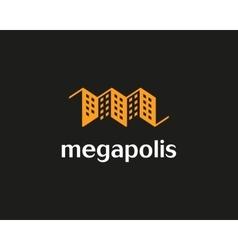 House logo design template Real estate vector