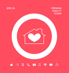 house with heart symbol graphic elements for your vector image