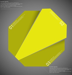 Infographic template with yellow octagon randomly vector