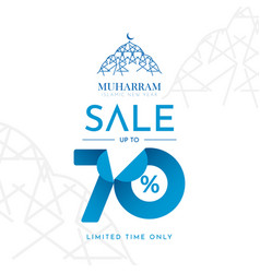 Islamic new year sale up to 70 limited time only vector