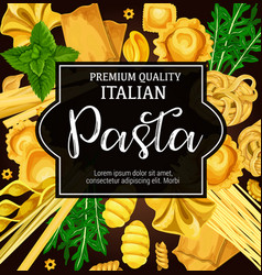 Italian natural pasta and seasoning vector