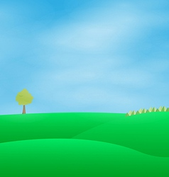 land sky vector image