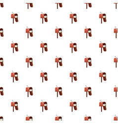 Mailbox pattern seamless vector