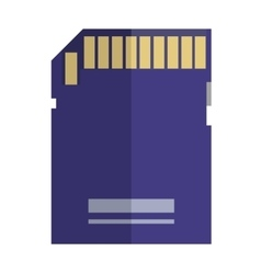 Micro SD memory card vector image
