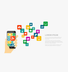 mobile internet concept vector image