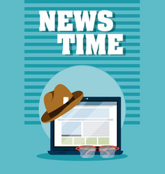 News time online vector