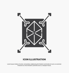 Object prototyping rapid structure 3d icon glyph vector