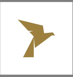 origami bird logo design template vector image