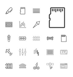 Panel icons vector