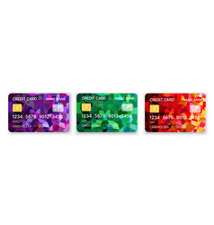 pattern credit card in bright brilliant abstract vector image