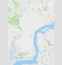 philadelphia colored map vector image
